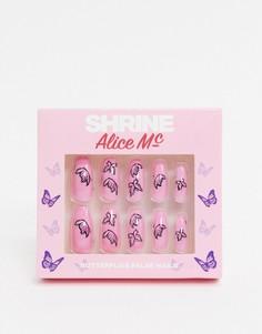 Накладные ногти с рисунком бабочекThe Shrine X Alice MC-Мульти