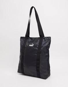 Черная сумка-тоут с логотипом Puma-Черный