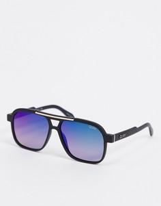 Черные солнцезащитные очки-авиаторы Quay Australia-Черный