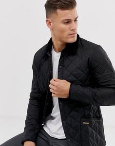 Черная стеганая куртка Barbour-Черный