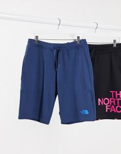 Синие шорты с принтом The North Face-Синий