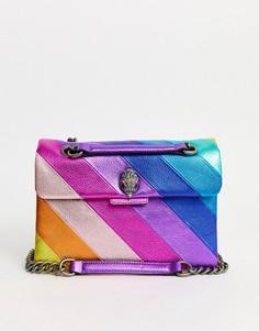 Большая кожаная сумка с разноцветными вставками Kurt Geiger London Kensington-Мульти