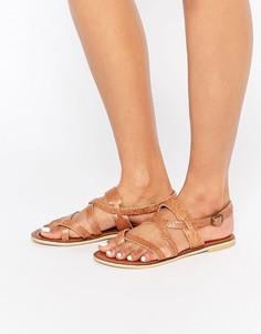 Кожаные сандалии с ремешками Park Lane-Коричневый
