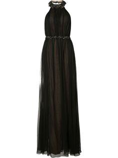 Marchesa Notte вечернее платье с вырезом-халтер