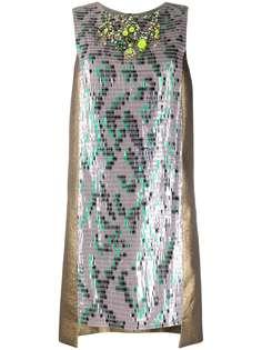 Matthew Williamson коктейльное платье с пайетками и вставками