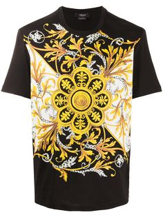 Versace футболка с принтом Baroque