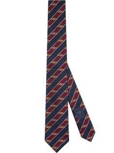 Gucci жаккардовый галстук с узором Interlocking G Horsebit