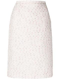 Giambattista Valli твидовая юбка-карандаш