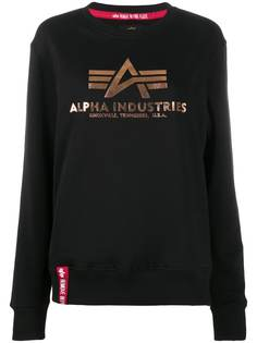 Alpha Industries foil logo-print sweatshirt