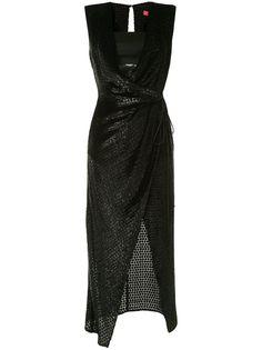 Manning Cartell фактурное платье с запахом