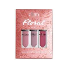 Elian Russia жидкая матовая помада для губ Floral Lip Set, оттенок 402 Angelo, 403 Margarita, 509 Firebird