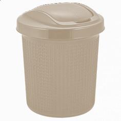 "Контейнер для мусора ""Ajur"", 12 л, цвет: айвори Svip"