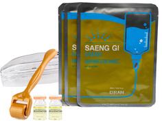 Набор Мезороллер Dr.roller 192 0.5 мм+ SALMON DNA REJUVENATION 2 шт.+D` RAN Saeng Gi Mask