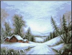 Набор для вышивания Rogoblen гобелена `Зимние воспоминания` (16 х 21 см)