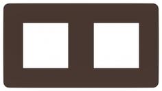 Рамка Schneider Electric Unica Studio Шоколад/Белая 2-ная