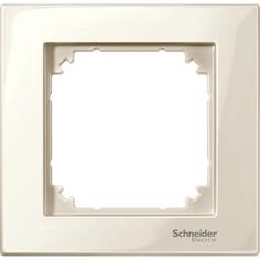 Рамка Schneider Electric Merten SM M-Plan 1-ая Бежевая глянец