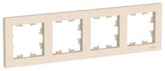 Рамка Schneider Electric AtlasDesign 4-ая Бежевая