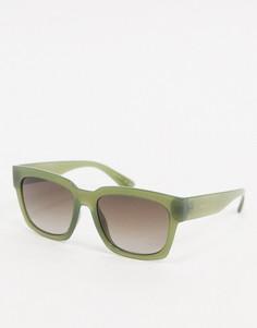 Зеленые солнцезащитные очки в квадратной оправе Esprit-Зеленый