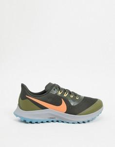 Зеленые кроссовки для бега по пересеченной местности Nike Running Air Zoom Pegasus 36-Зеленый