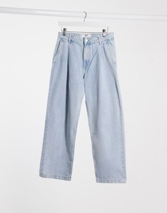 Широкие джинсы Bershka-Синий