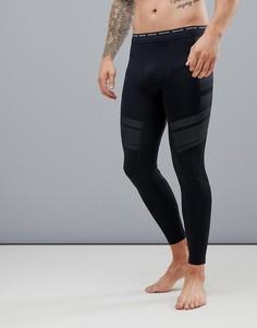 Компрессионные леггинсы с логотипом Calvin Klein Performance-Черный