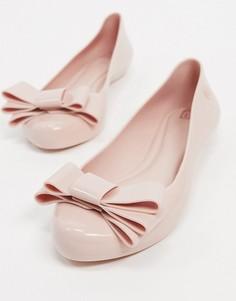 Розовые балетки с бантиком Zaxy-Розовый