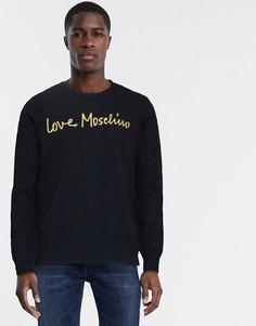 Джемпер с логотипом Love Moschino-Черный