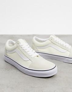 Классические светлые кроссовки Vans-Белый