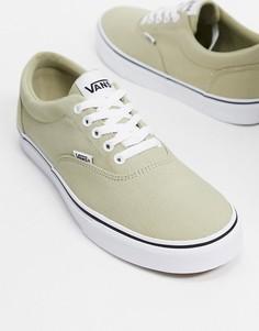 Кроссовки эвкалиптового цвета с белой отделкой Vans Doheny-Зеленый