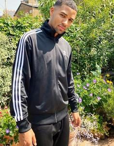 Черная олимпийка с тремя полосками adidas Originals firebird-Черный