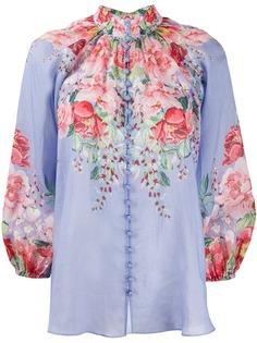 Zimmermann блузка Bellitude с высоким воротником и цветочным принтом