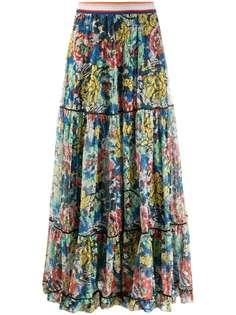 Missoni ярусная юбка макси с цветочным узором