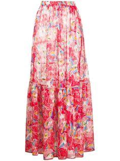 Missoni Mare юбка макси с абстрактным цветочным принтом