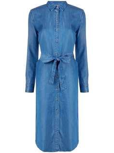 Tommy Hilfiger джинсовое платье-рубашка с поясом