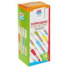 ArtSpace Ручка-корректор 4 мл, 12 шт голубой/желтый/зеленый/красный