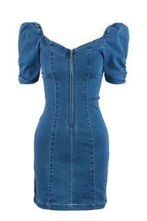Короткое джинсовое платье с объемными рукавами Love Republic