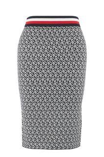 Облегающая трикотажная юбка с монограммой бренда Tommy Hilfiger