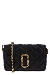 Стеганая кожаная сумка с откидным клапаном Marc Jacobs