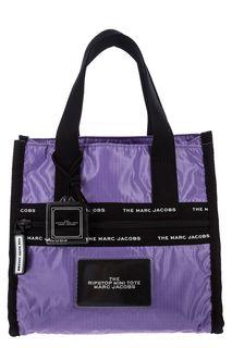 Маленькая текстильная сумка фиолетового цвета Marc Jacobs