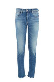 Синие джинсы прямого кроя Grover Replay
