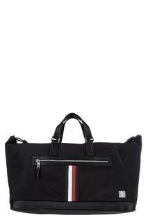Дорожная сумка черного цвета из текстиля Tommy Hilfiger
