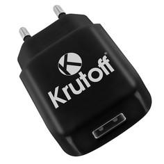 Сетевое зарядное устройство Krutoff CH-02 1xUSB, 2.1A (black)