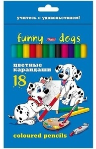 "Карандаши цветные ""Далматинцы"", 18 цв, HATBER"