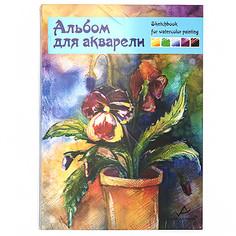 Альбом для акварели Vista-artista (белая бумага крупнозернистая), 20 листов, арт. SWC