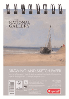 """Альбом для зарисовок """"National Gallery"""", А6, 40 листов Bruynzeel"""
