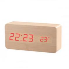 Настольные цифровые часы-будильник VST-862 (Бежевые) Lemon Tree