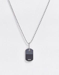 Ожерелье с двухцветной подвеской Fossil-Серебряный