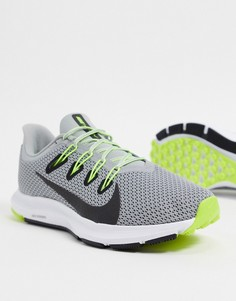 Серые кроссовки Nike Running Quest 2-Серый
