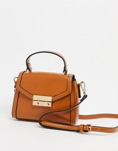 Светло-коричневый портфель ASOS DESIGN