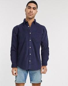 Вельветовая оксфордская рубашка Jack & Jones-Темно-синий
